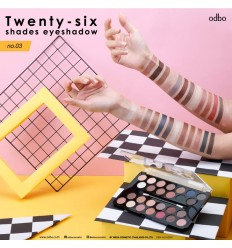 Палетка теней для век 26 цветов Odbo 26 Shades Eyeshadow Palette №03