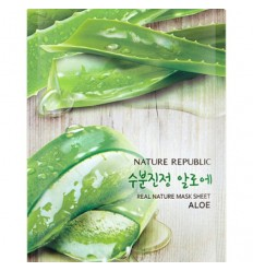 Маска тканевая  с экстрактом алоэ Nature Republic Real Nature Mask Sheet Aloe 23мл