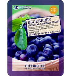 Маска для лица с экстрактом черники, FoodAholic Blueberry Natural Essence Mask