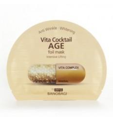 Маска тканевая фольгированная омолаживающая, Vita Cocktail Age foil mask Intensive Lifting 30ml*1sheet