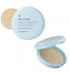 Пудра матирующая The Face Shop, Oil Clear Smooth  Bright Powder