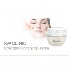 Крем осветляющий с коллагеном для устранения пигментных пятен и веснушек, 3W Clinic Collagen Whitening Cream