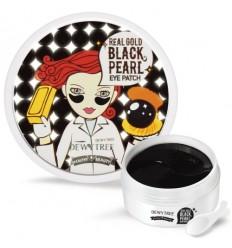 Патчи для глаз с золотом и экстрактом черной жемчужины DEWY TREE Real Gold BLACK PEARL eye patch 90г