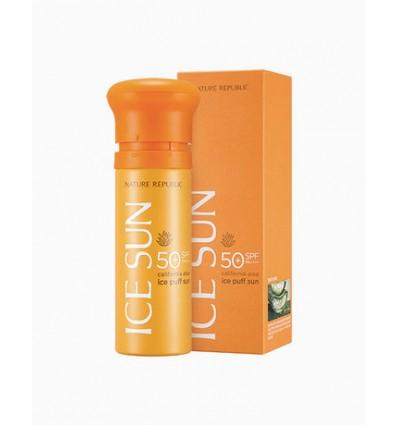 Крем солнцезащитный с экстрактом алоэ, Nature Republic Ice Sun SPF50+ PA++++ California Aloe 100 ml