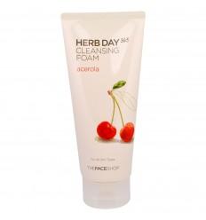 Пенка для умывания с экстрактом вишни The Face Shop Herb Day 365 Foamin Cleanser Acerola 170ml