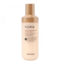 Увлажняющая питательная эмульсия с аргановым маслом и экстрактом сафлора Tony Moly Floria Nutra Energy Emulsion 160 мл