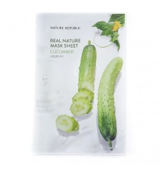 Маска тканевая для лица с экстрактом бамбука Nature Republic Real Nature Mask Sheet Bamboo 23ml