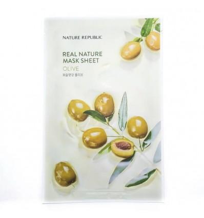 Маска тканевая для лица с экстрактом огурца Nature Republic Real Nature Mask Sheet Cucumber 23ml