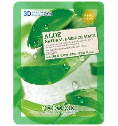 Маска для лица с экстрактом алое FoodAholic Aloe Natural Essence Mask 23g
