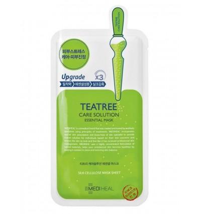 Маска шелкоцеллюлозная для лица с экстрактом чайного дерева MEDIHEAL TeaTree Care Solution Essential Mask Ex 24ml