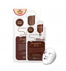 Маска шелкоцеллюлозная для лица с экстрактом плаценты с эффектом лифтинга MEDIHEAL Placenta Revital Essential Mask Ex 24ml