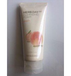 Пенка для умывания с экстрактом персика The Face Shop Herb Day 365 Foamin Cleanser Peach 170ml