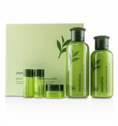 Набор для ухода за кожей с зеленым чаем, Innisfree Green Tea Balancing Skin Care set EX 5pcs